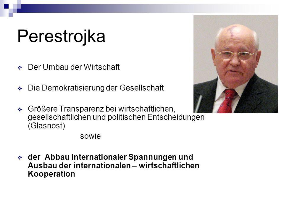 Perestrojka Der Umbau der Wirtschaft