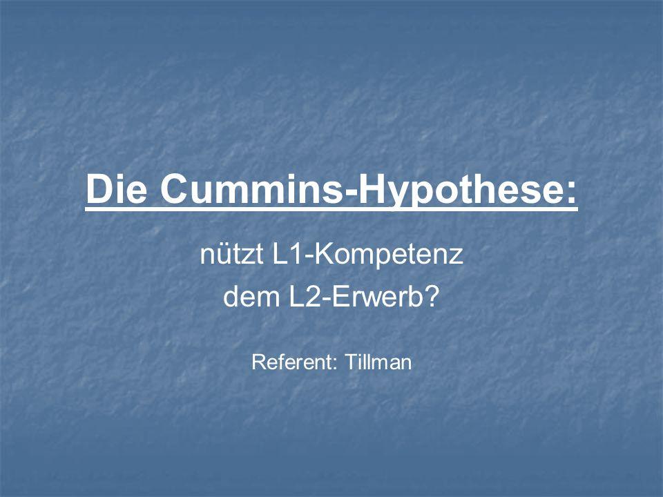 Die Cummins-Hypothese: