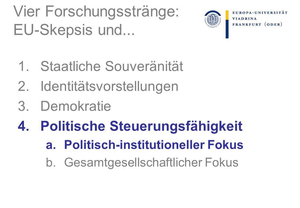 Vier Forschungsstränge: EU-Skepsis und...