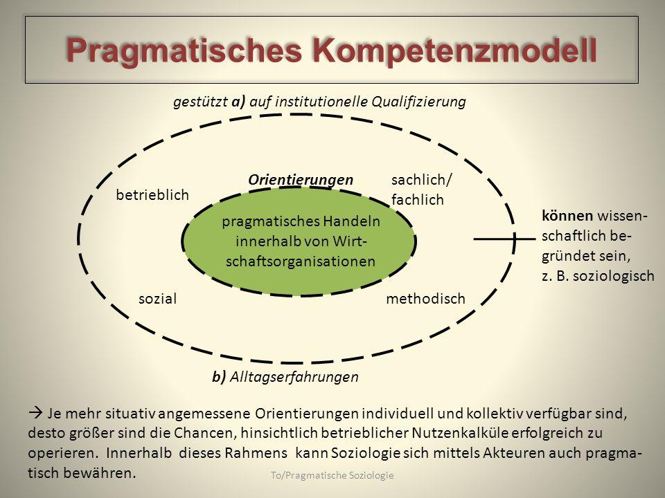 Pragmatisches Kompetenzmodell