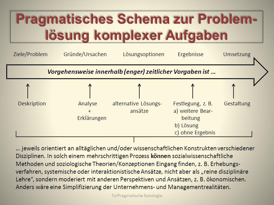 Pragmatisches Schema zur Problem-lösung komplexer Aufgaben