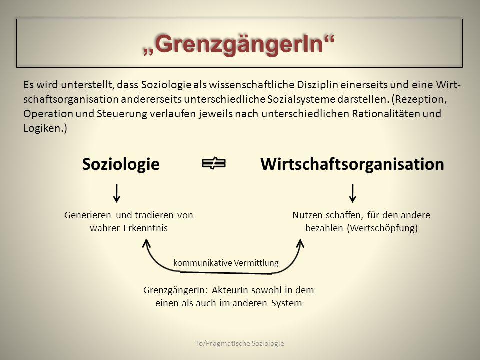"""""""GrenzgängerIn Soziologie Wirtschaftsorganisation"""
