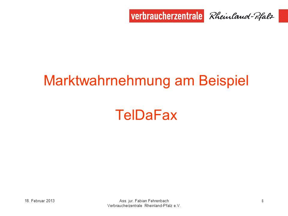 Marktwahrnehmung am Beispiel TelDaFax