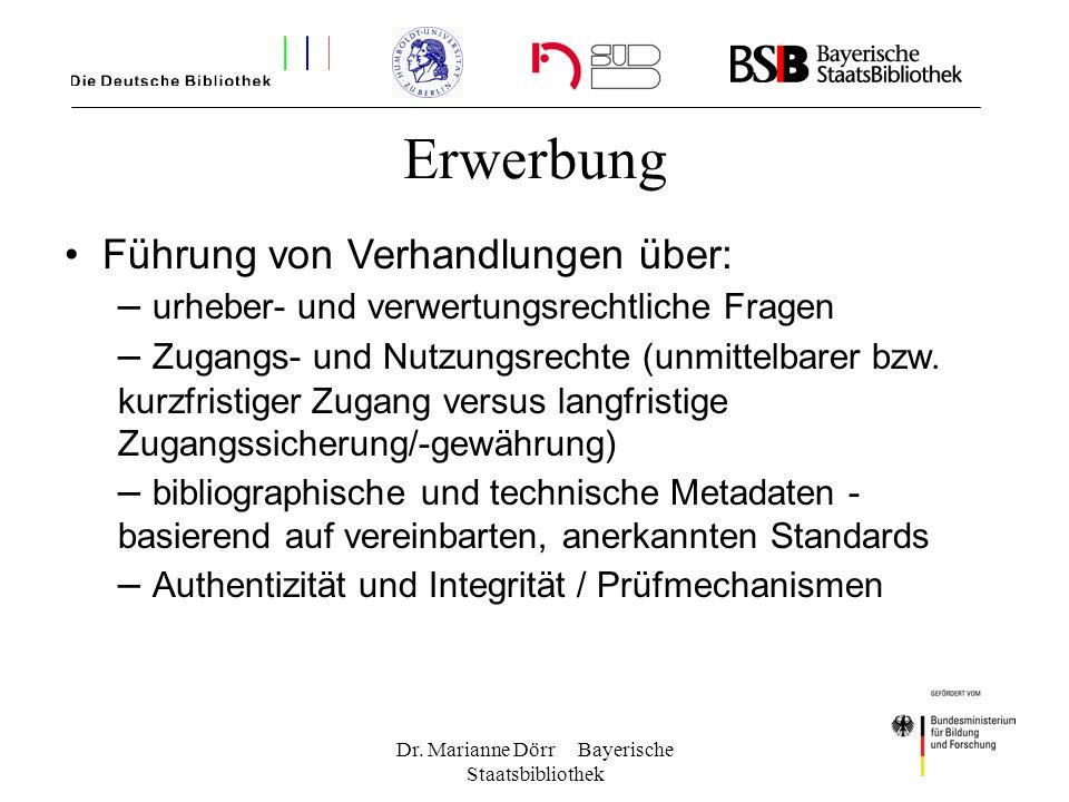 Dr. Marianne Dörr Bayerische Staatsbibliothek