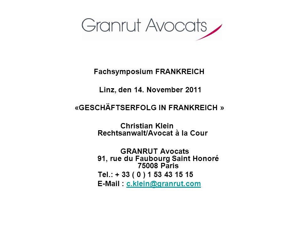 Fachsymposium FRANKREICH