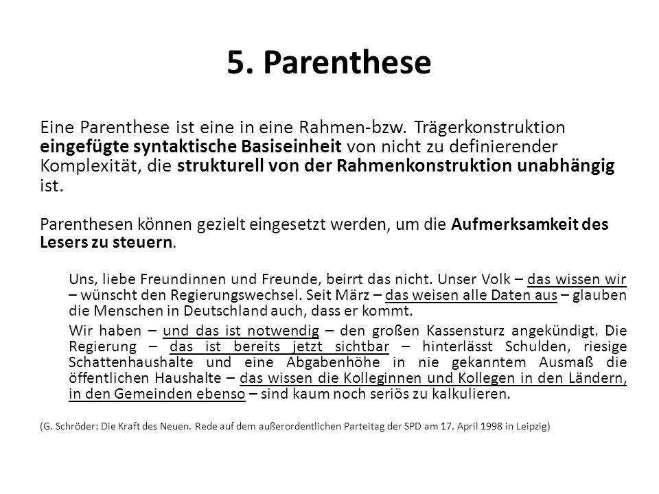 5. Parenthese
