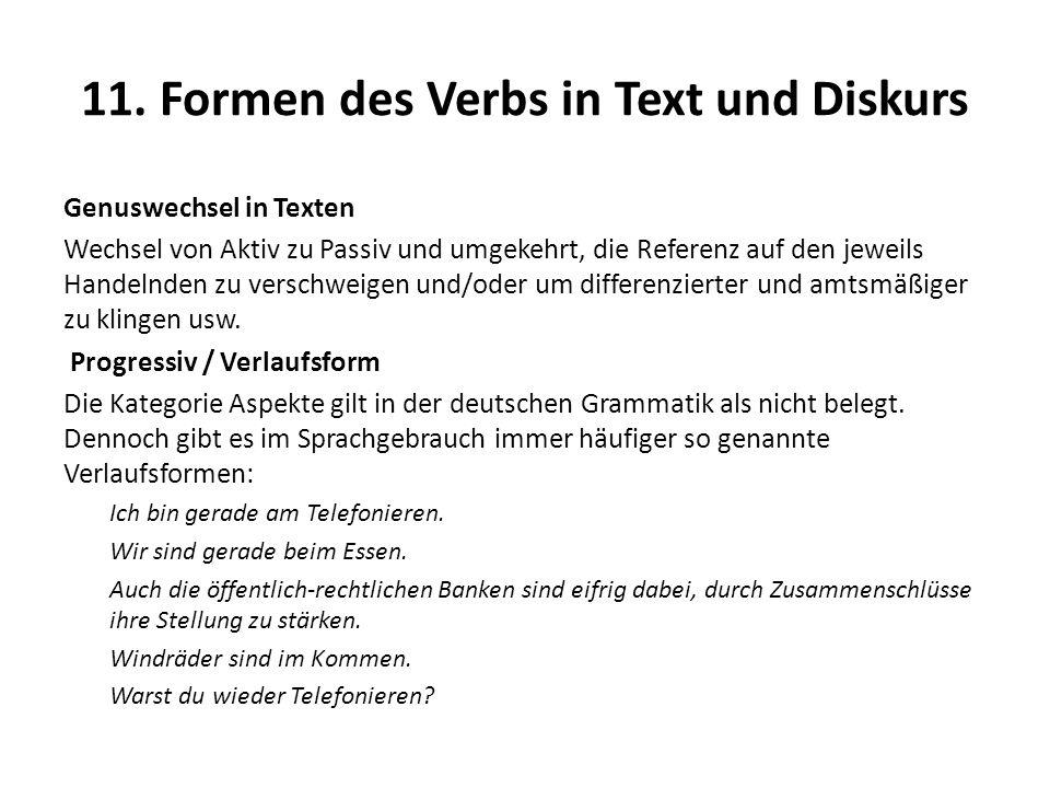 11. Formen des Verbs in Text und Diskurs