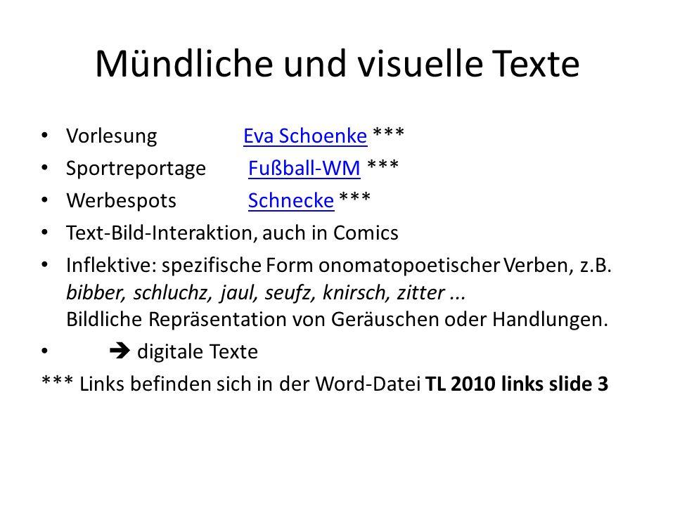 Mündliche und visuelle Texte