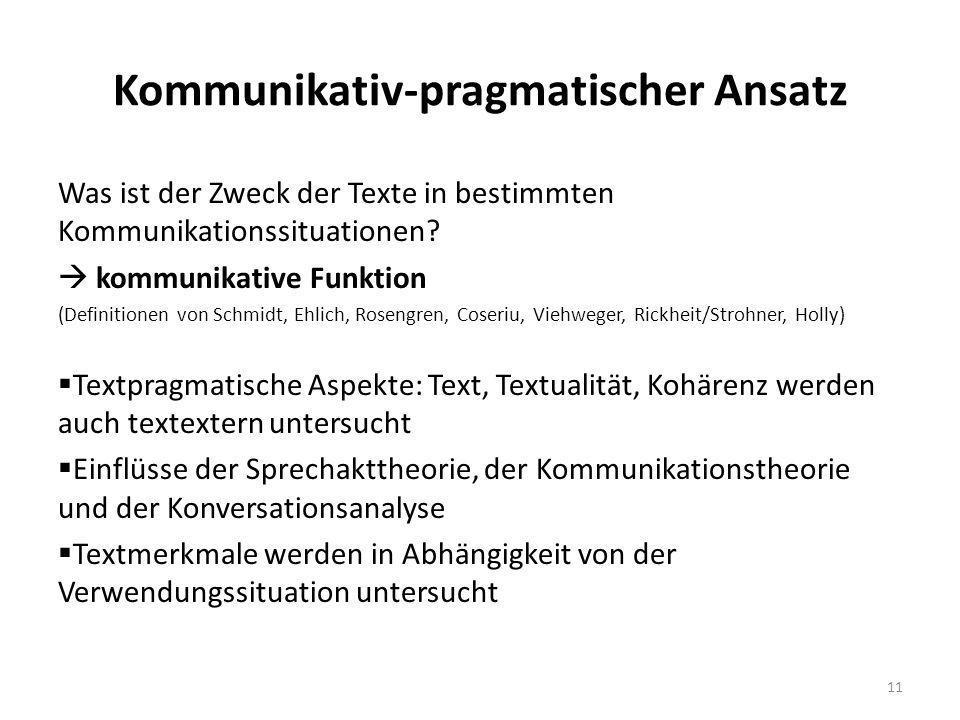 Kommunikativ-pragmatischer Ansatz