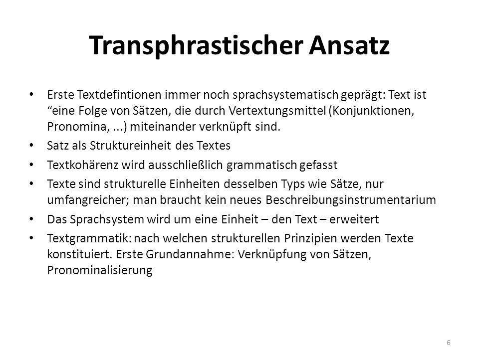 Transphrastischer Ansatz