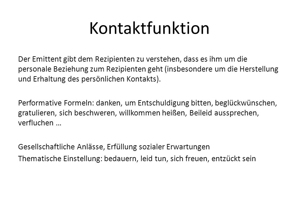 Kontaktfunktion