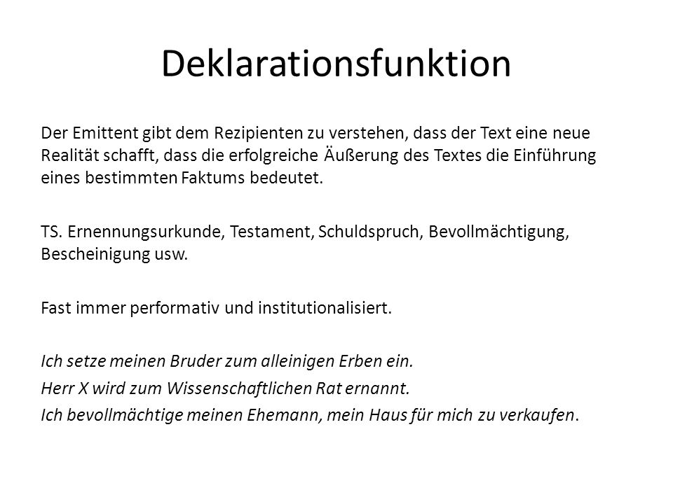 Deklarationsfunktion