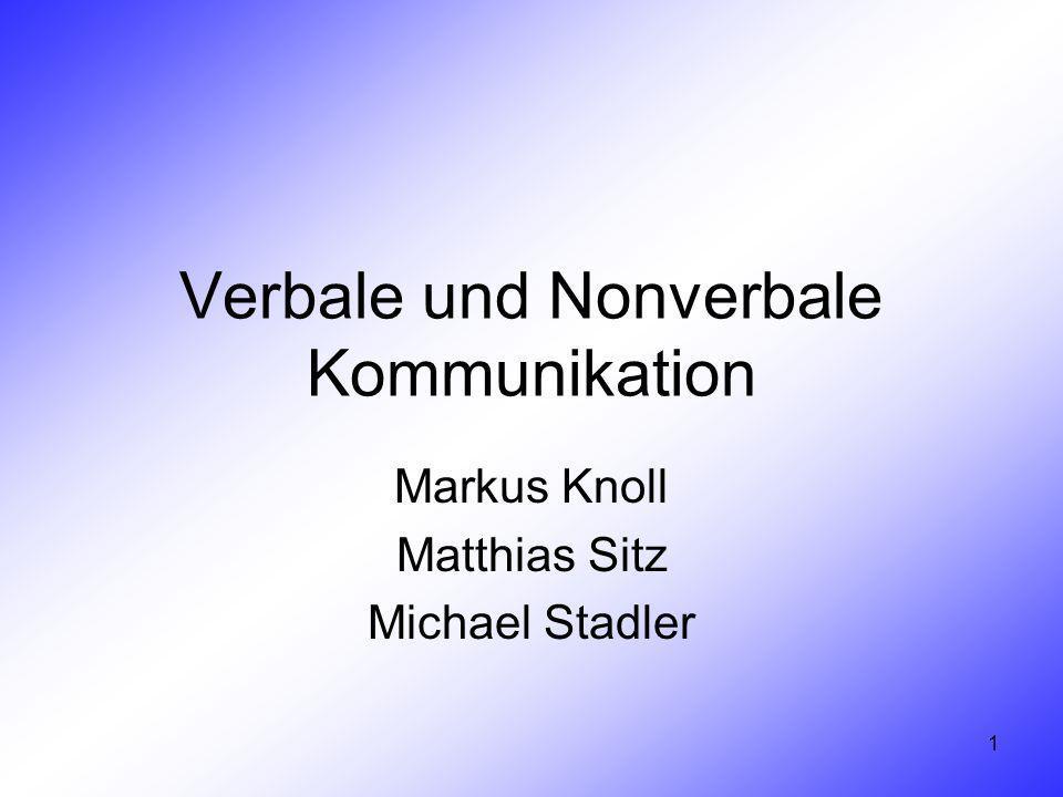 Verbale und Nonverbale Kommunikation