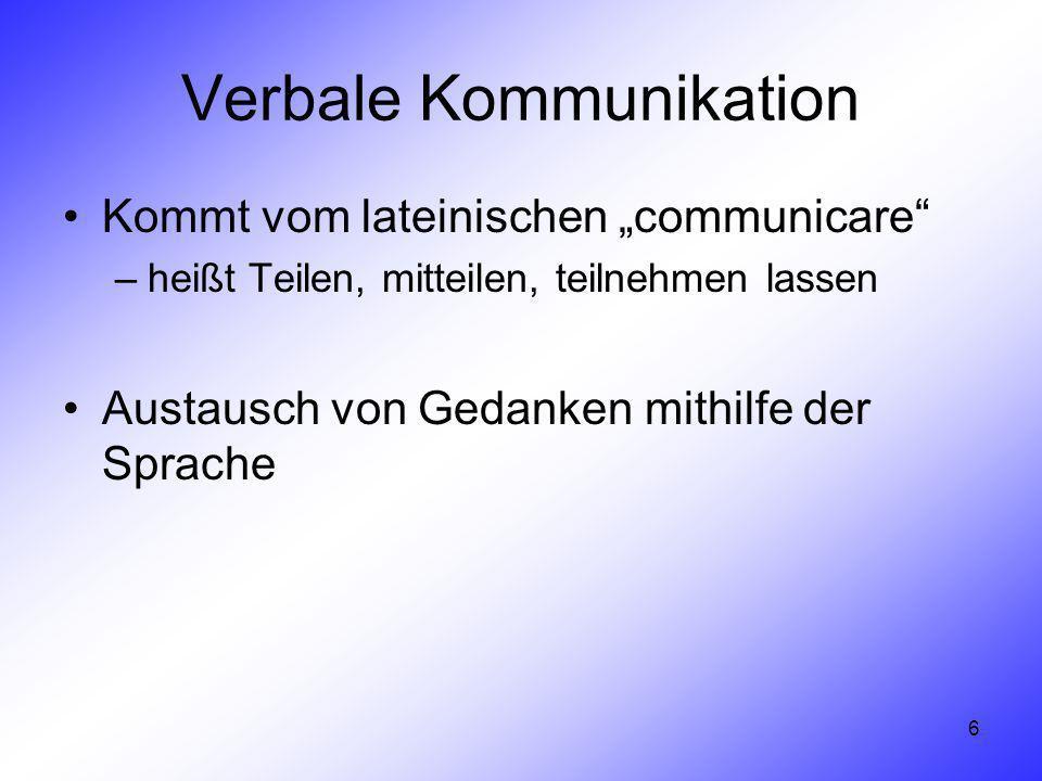 Verbale Kommunikation