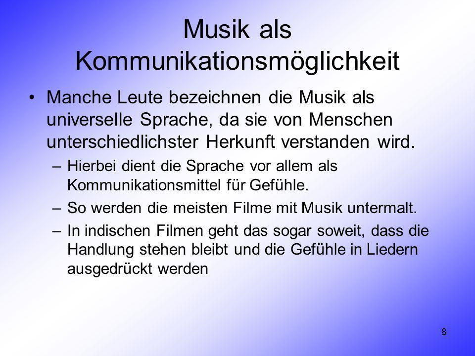 Musik als Kommunikationsmöglichkeit