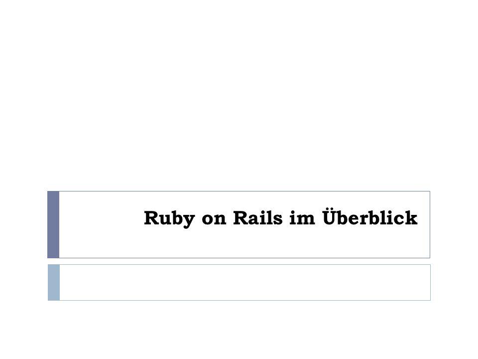 Ruby on Rails im Überblick