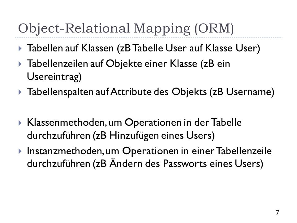 Object-Relational Mapping (ORM)