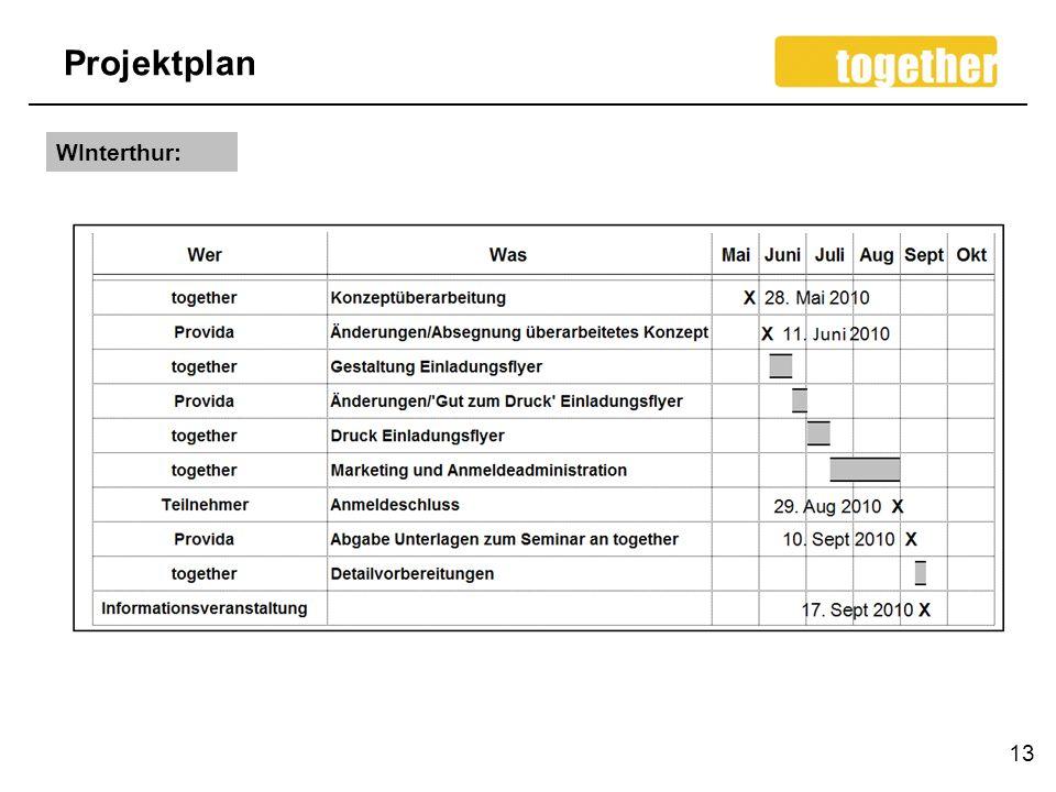 Projektplan WInterthur: 13