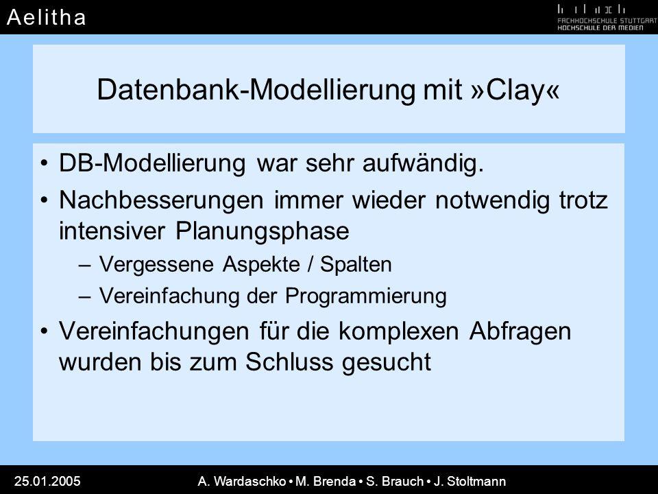 Datenbank-Modellierung mit »Clay«