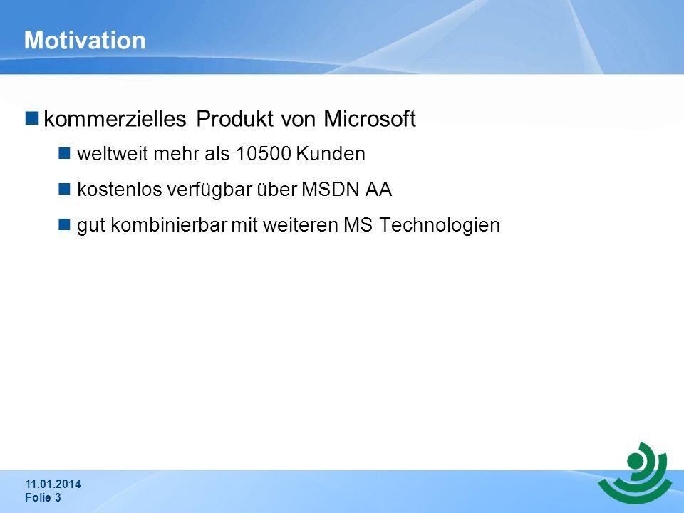 Motivation kommerzielles Produkt von Microsoft