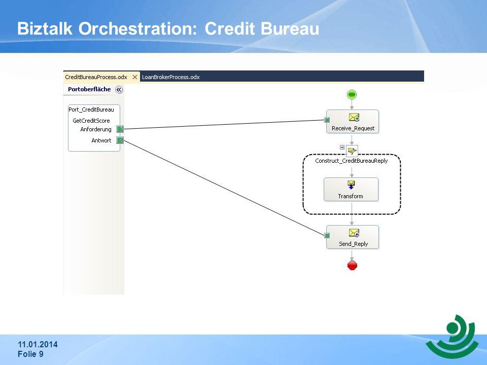 Biztalk Orchestration: Credit Bureau