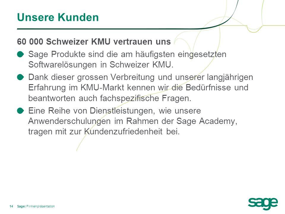 Unsere Kunden 60 000 Schweizer KMU vertrauen uns
