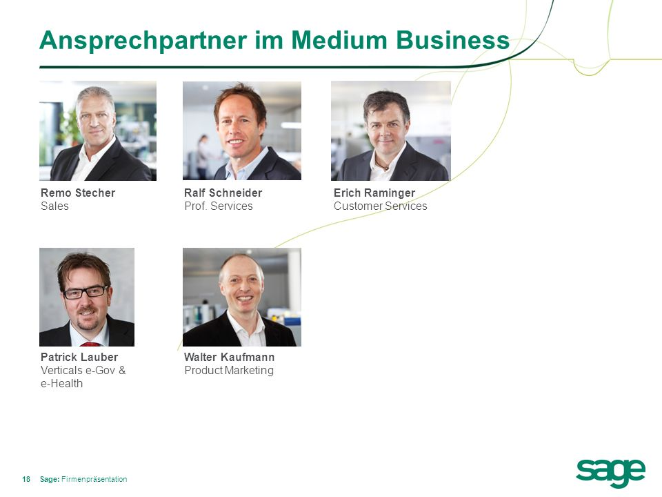 Ansprechpartner im Medium Business