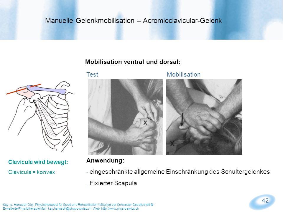 Manuelle Gelenkmobilisation – Acromioclavicular-Gelenk