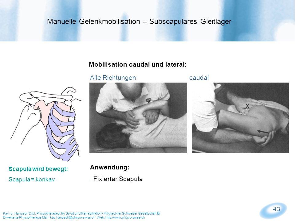 Manuelle Gelenkmobilisation – Subscapulares Gleitlager
