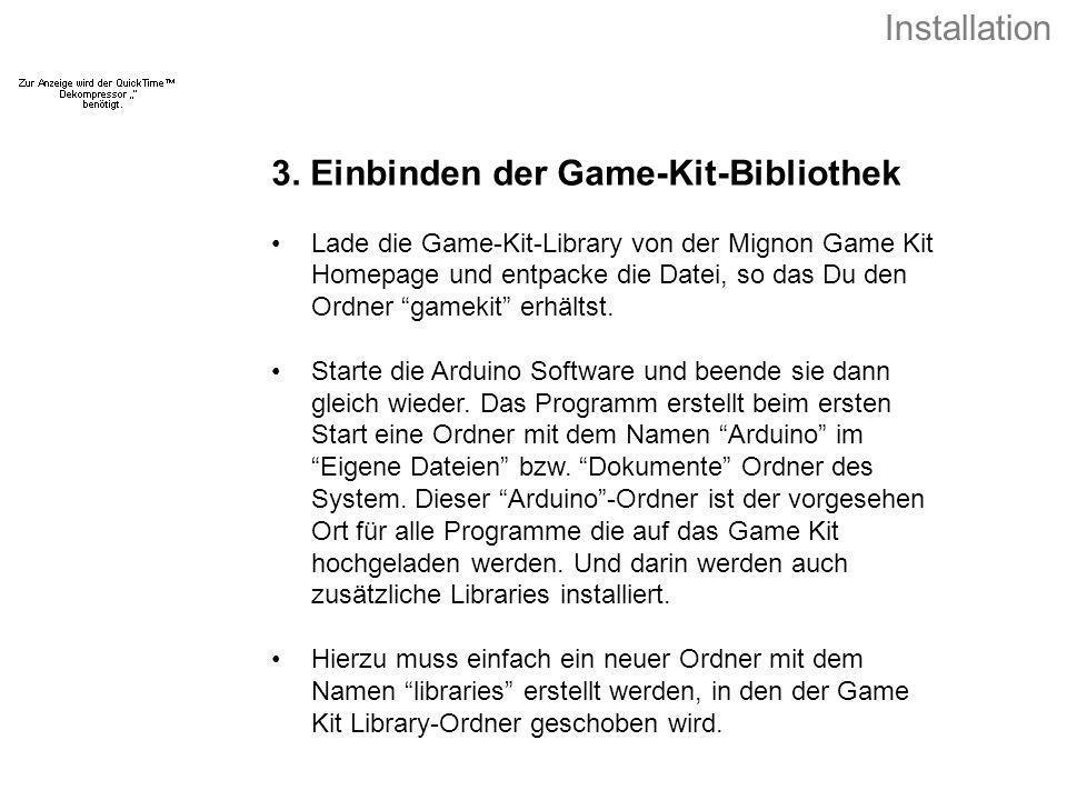 3. Einbinden der Game-Kit-Bibliothek