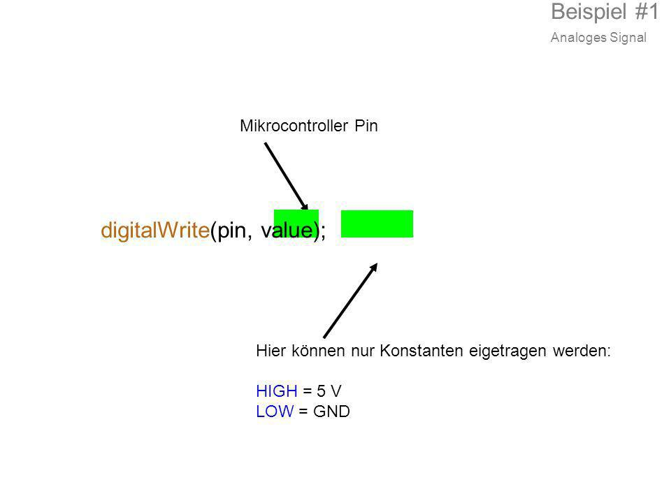digitalWrite(pin, value);