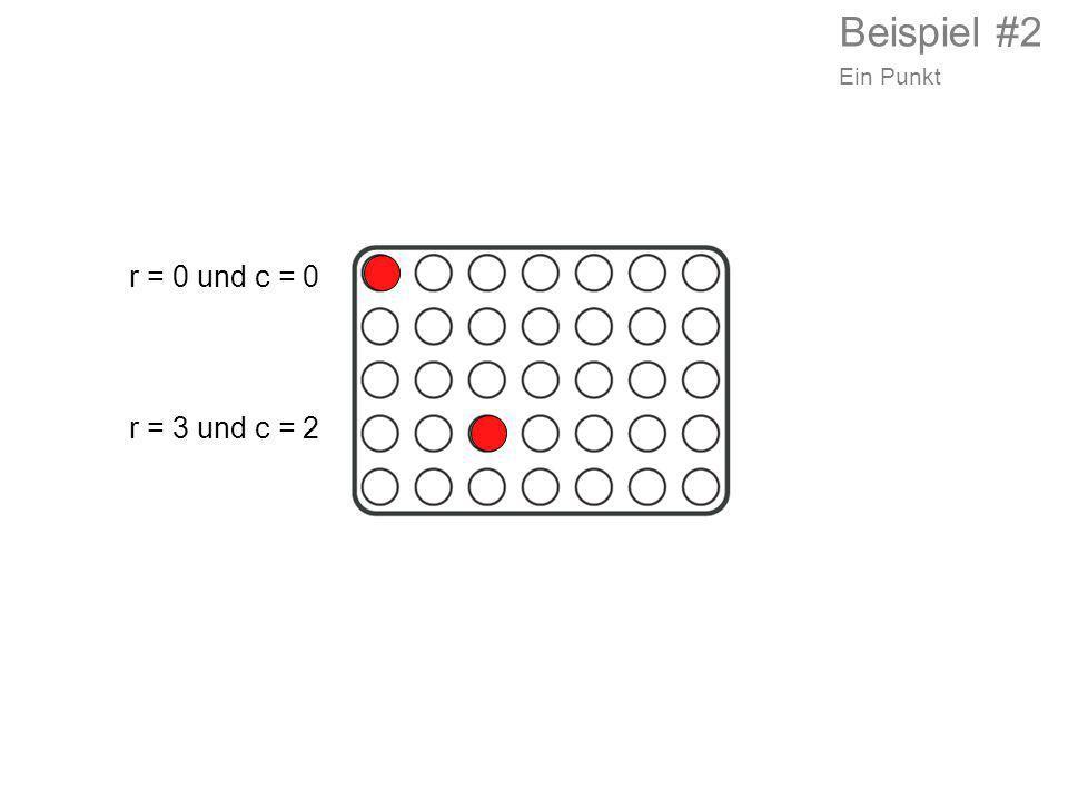 Beispiel #2 Ein Punkt r = 0 und c = 0 r = 3 und c = 2