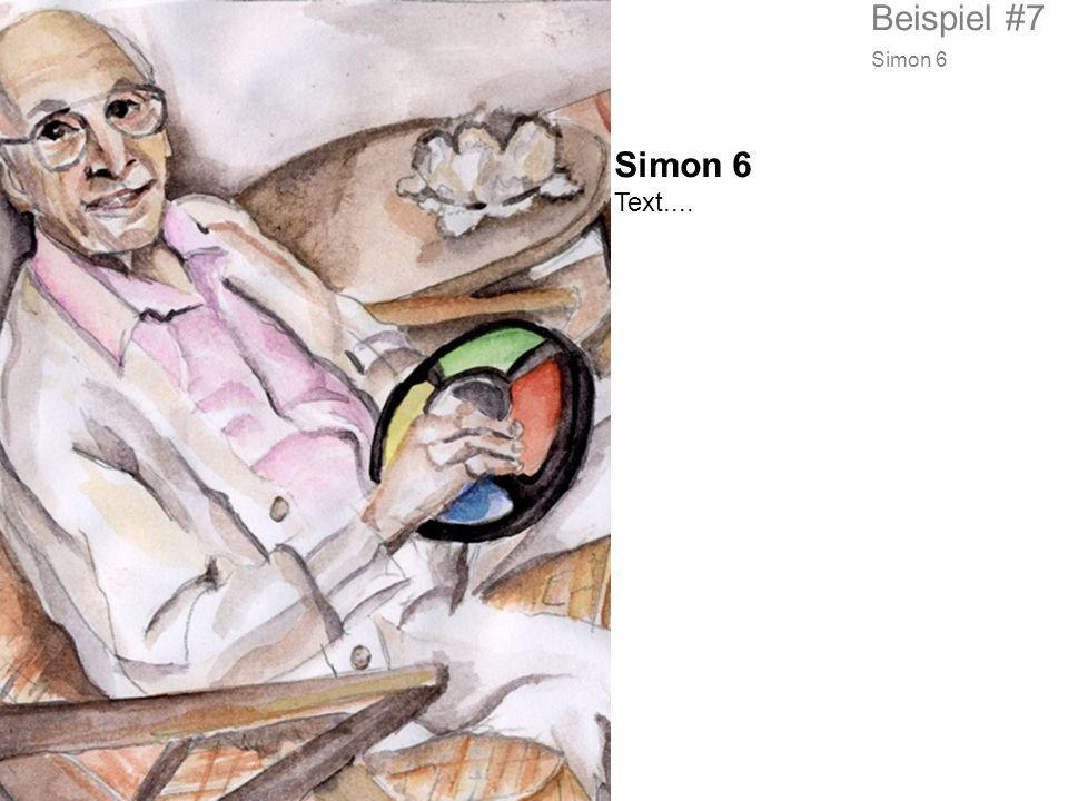 Beispiel #7 Simon 6 Simon 6 Text....