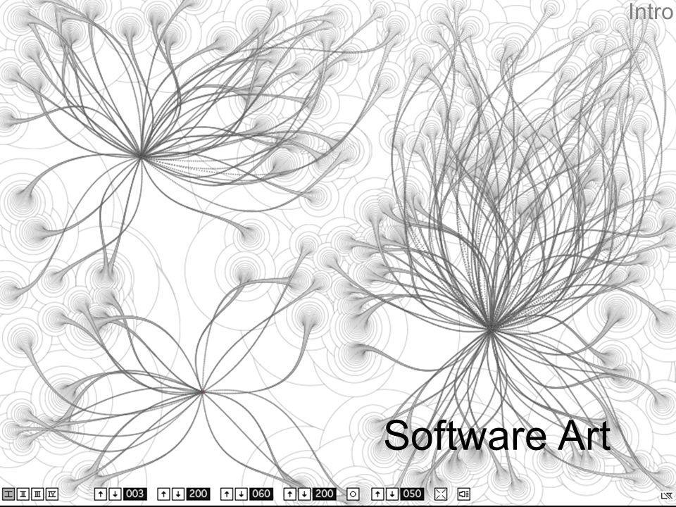 Intro ProximityOfNeeds von Lia (http://www.liaworks.com) Der Computer wurde von Anfang auch für künstlerische Experiment genutzt.
