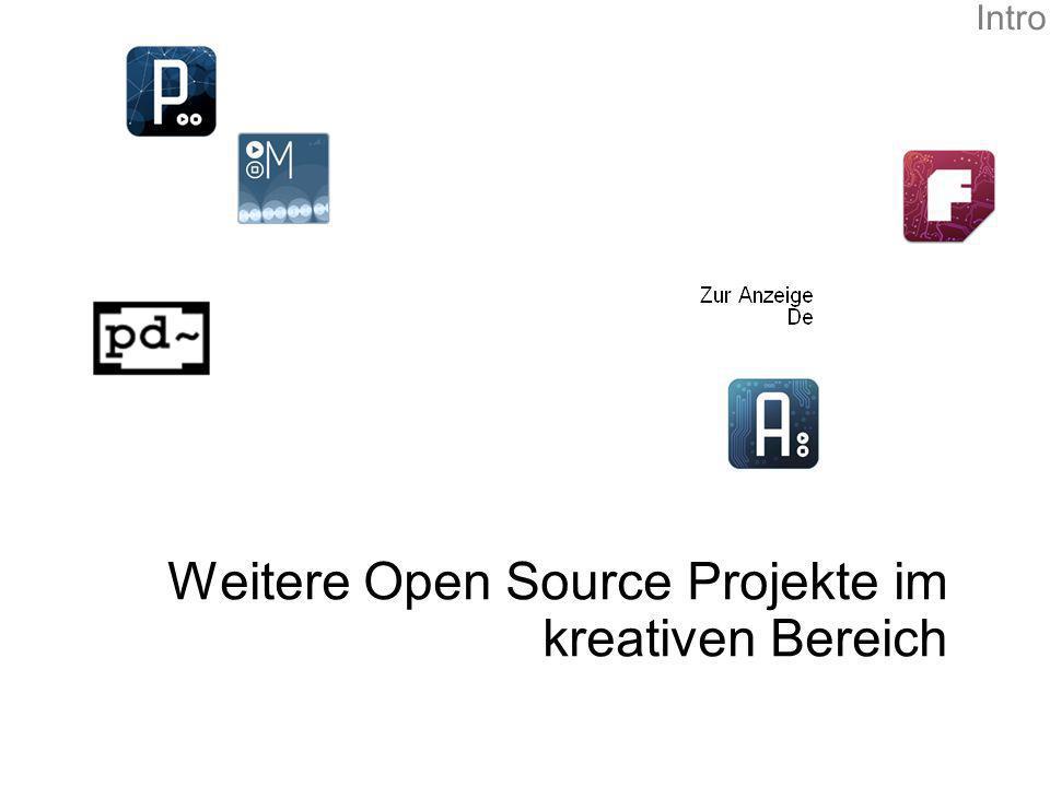 Weitere Open Source Projekte im kreativen Bereich