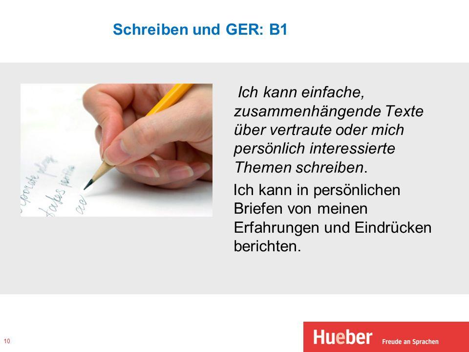 Schreiben und GER: B1