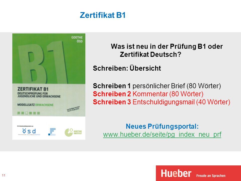 Neues Prüfungsportal: www.hueber.de/seite/pg_index_neu_prf