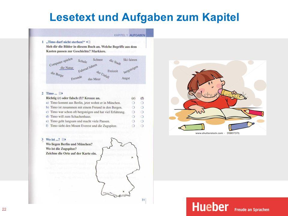 Lesetext und Aufgaben zum Kapitel