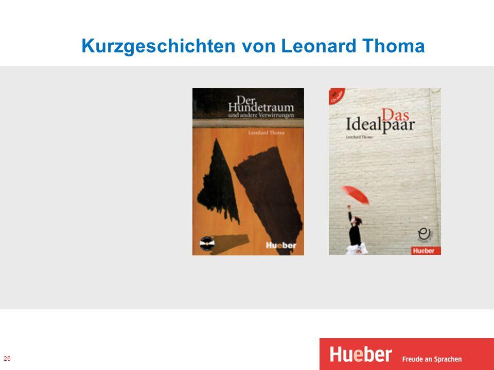 Kurzgeschichten von Leonard Thoma