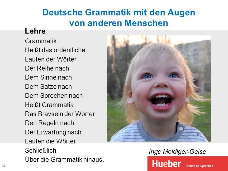 Deutsche Grammatik mit den Augen von anderen Menschen