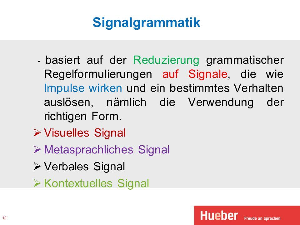 Signalgrammatik Visuelles Signal Metasprachliches Signal