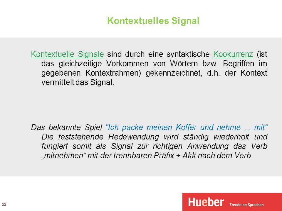 Kontextuelles Signal