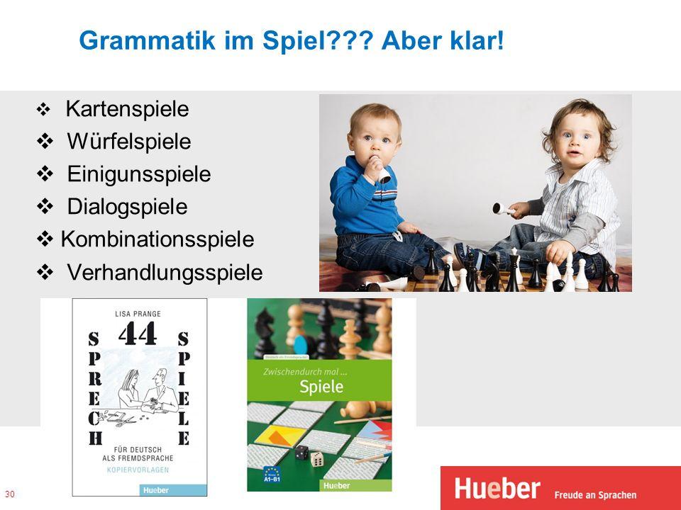 Grammatik im Spiel Aber klar!