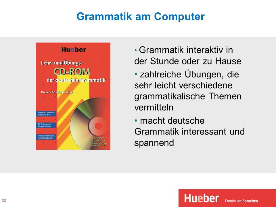 Grammatik am ComputerGrammatik interaktiv in der Stunde oder zu Hause.