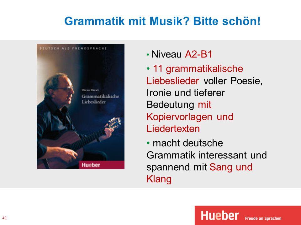 Grammatik mit Musik Bitte schön!