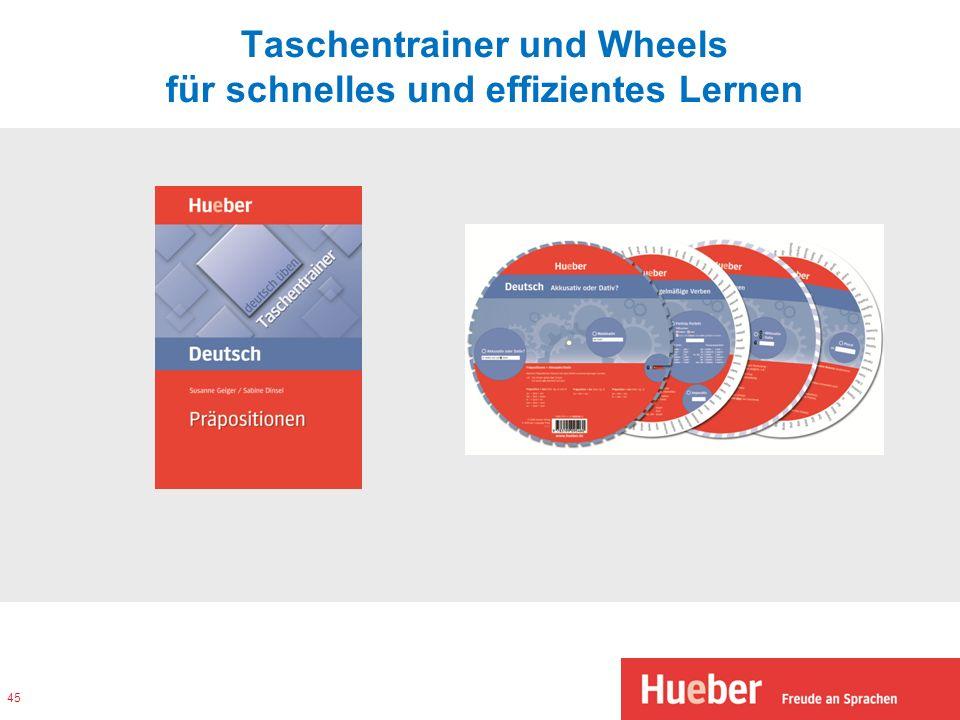 Taschentrainer und Wheels für schnelles und effizientes Lernen