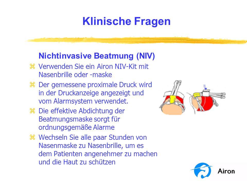 Klinische Fragen Nichtinvasive Beatmung (NIV)