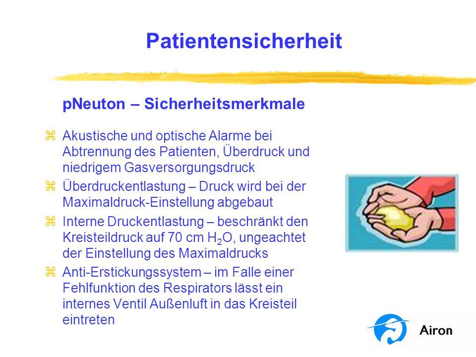 Patientensicherheit pNeuton – Sicherheitsmerkmale