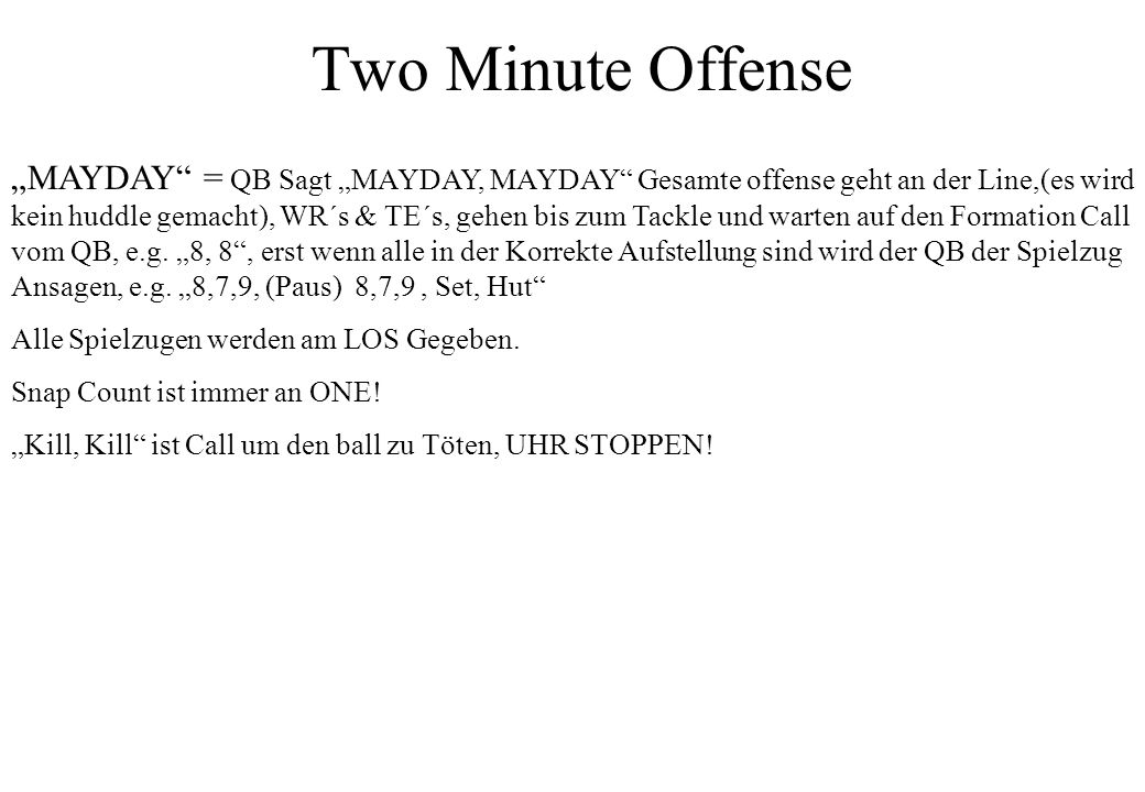 Two Minute Offense