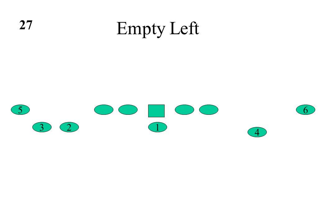 27 Empty Left 5 6 3 2 1 4